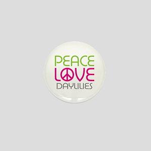 Peace Love Daylilies Mini Button