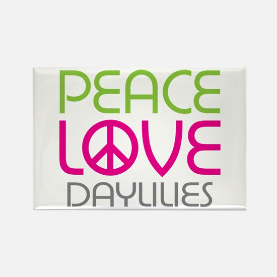 Peace Love Daylilies Rectangle Magnet (10 pack)