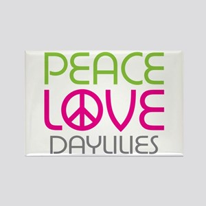 Peace Love Daylilies Rectangle Magnet