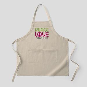 Peace Love Daylilies Apron