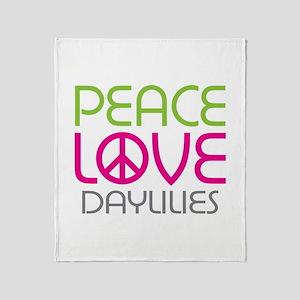 Peace Love Daylilies Throw Blanket