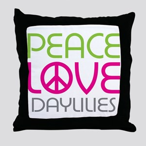 Peace Love Daylilies Throw Pillow