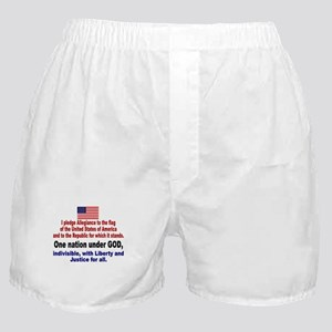 I Pledge Allegiance to the Flag Boxer Shorts