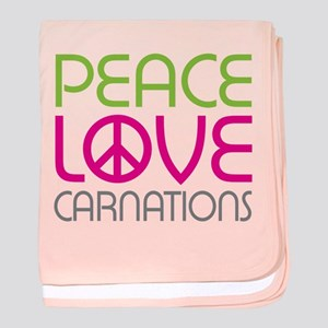 Peace Love Carnations baby blanket