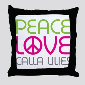 Peace Love Calla Lilies Throw Pillow