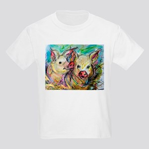 Pig, Couple, Cute, Kids Light T-Shirt