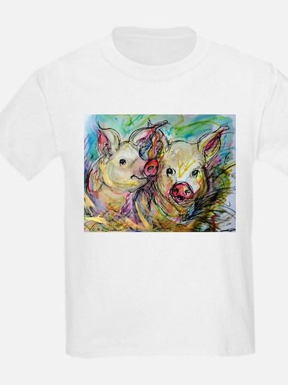Pig, Couple, Cute, T-Shirt