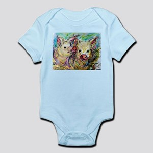 Pig, Couple, Cute, Infant Bodysuit