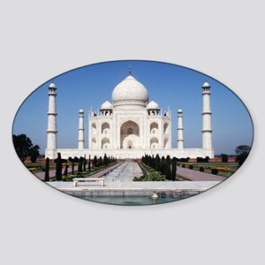 Taj Mahal India Sticker (Oval)