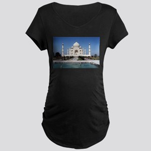 Taj Mahal India Maternity Dark T-Shirt