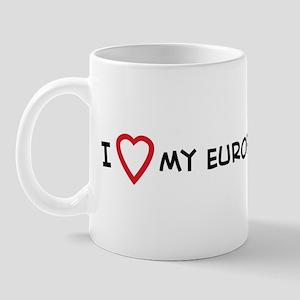 I Love My European Burmese Mug