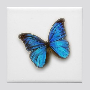 Blue Morpho Tile Coaster