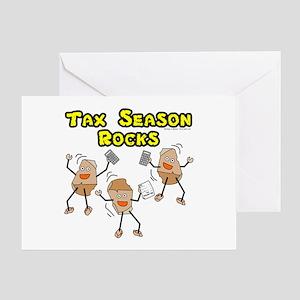 Tax Season Rocks Greeting Card