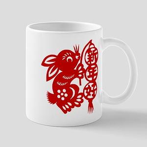 Chinese New Year Rabbit Paper Cut Mug