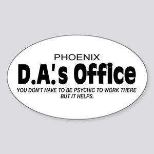 'D.A.'s Office' Sticker (Oval)