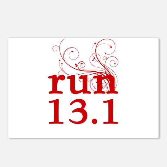 run 13.1 Postcards (Package of 8)