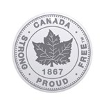 Canadian Pride STRONG & FREE Ornament (Round)