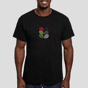 Popart Tree Men's Fitted T-Shirt (dark)