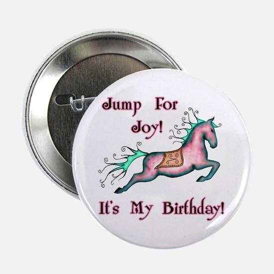 Joy Birthday Horse Button