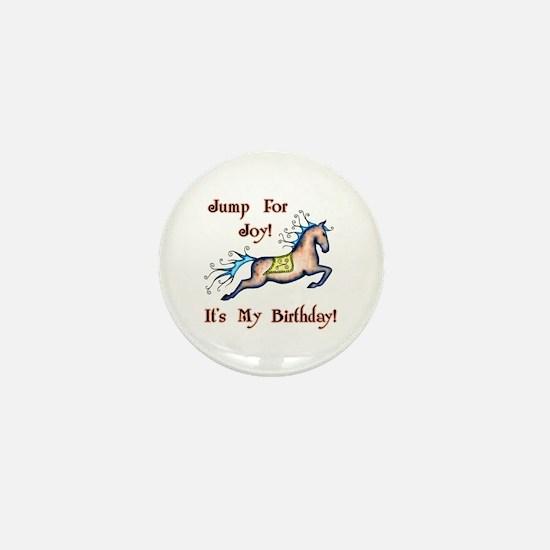 Joy Birthday Horse Mini Button