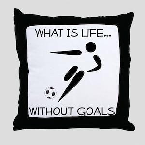 Soccer...Goals! Throw Pillow