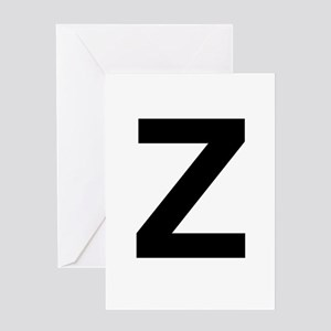 Z Helvetica Alphabet Greeting Card