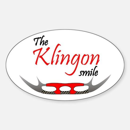 Klingon Smile Sticker (Oval)