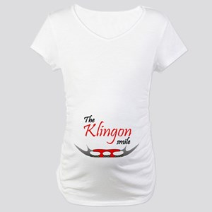 Klingon Smile Maternity T-Shirt
