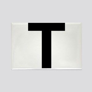 T Helvetica Alphabet Rectangle Magnet