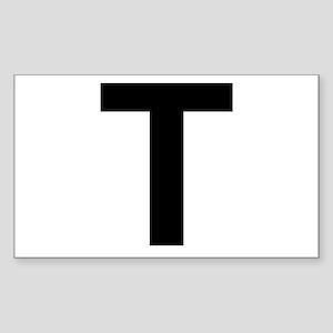 T Helvetica Alphabet Sticker (Rectangle)