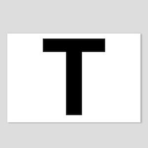 T Helvetica Alphabet Postcards (Package of 8)