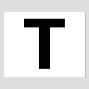 T Helvetica Alphabet Small Poster