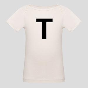 T Helvetica Alphabet Organic Baby T-Shirt