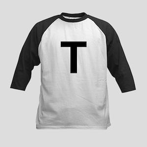 T Helvetica Alphabet Kids Baseball Jersey
