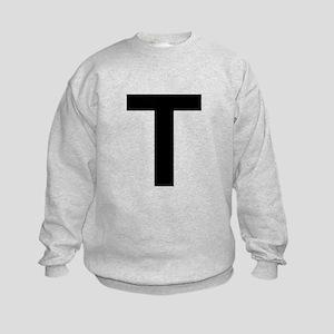 T Helvetica Alphabet Kids Sweatshirt