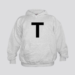 T Helvetica Alphabet Kids Hoodie
