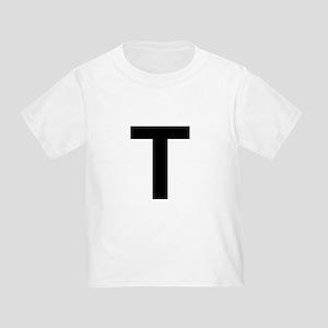 T Helvetica Alphabet Toddler T-Shirt