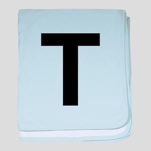 T Helvetica Alphabet baby blanket