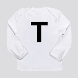 T Helvetica Alphabet Long Sleeve Infant T-Shirt