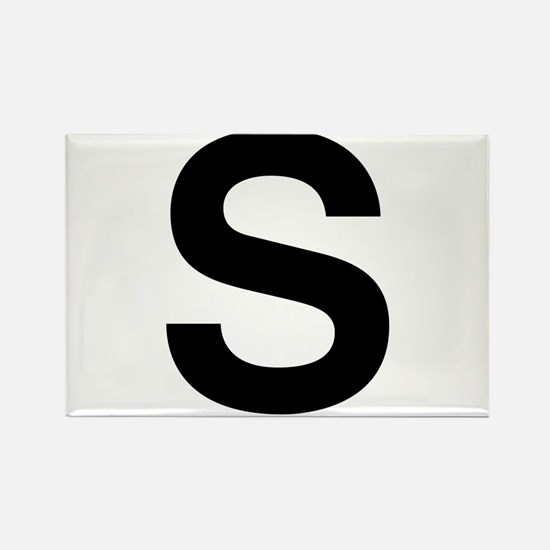 S Helvetica Alphabet Rectangle Magnet