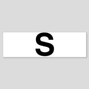 S Helvetica Alphabet Sticker (Bumper)