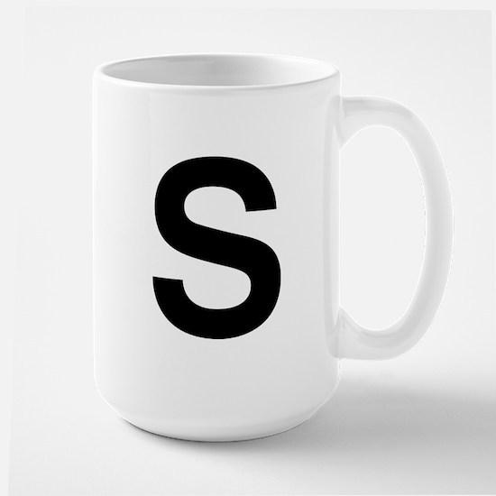 S Helvetica Alphabet Large Mug