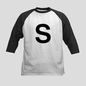 S Helvetica Alphabet Kids Baseball Jersey