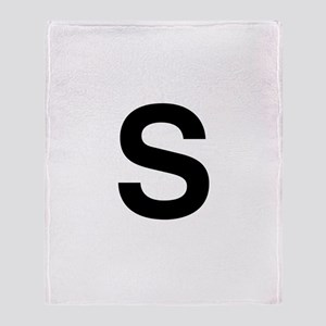 S Helvetica Alphabet Throw Blanket