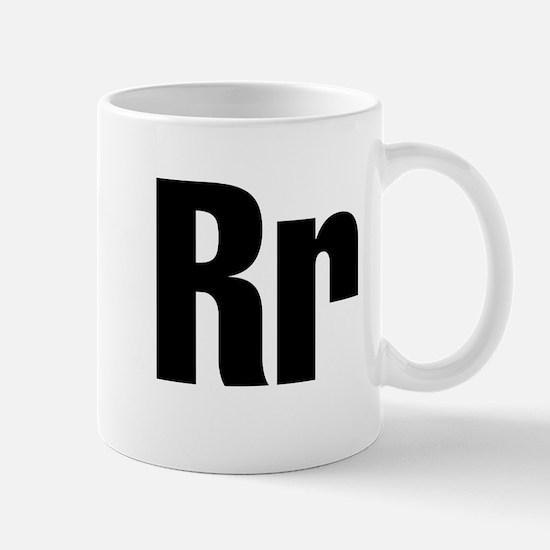 R Helvetica Alphabet Mug