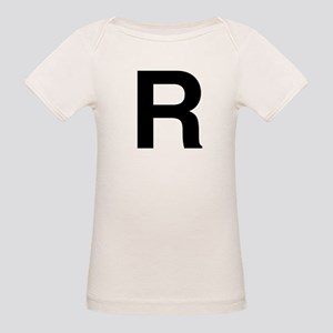 R Helvetica Alphabet Organic Baby T-Shirt