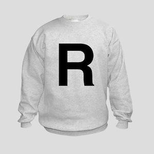 R Helvetica Alphabet Kids Sweatshirt