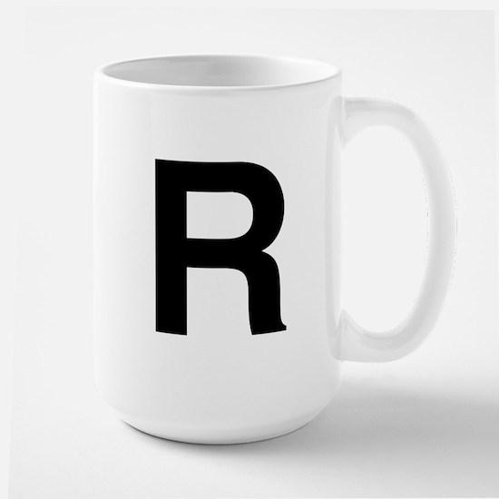 R Helvetica Alphabet Large Mug
