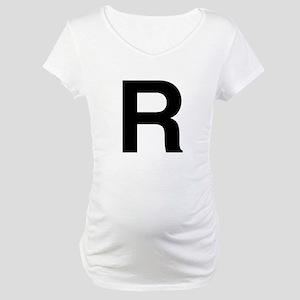 R Helvetica Alphabet Maternity T-Shirt