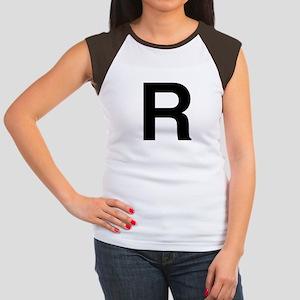 R Helvetica Alphabet Women's Cap Sleeve T-Shirt